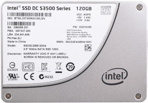 Жесткий диск SSD Intel S3500 Series (SSDSC2BB120G401) 120 Gb