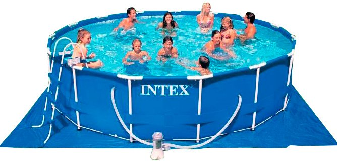 Каркасный бассейн Intex 28228NP Metal Frame 457x84