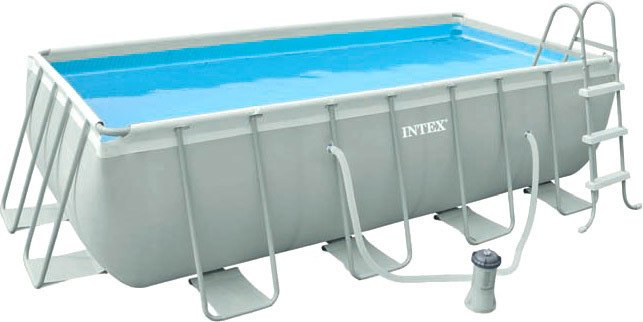 Каркасный бассейн Intex 28350 Rectangular Ultra Frame 400x200x100