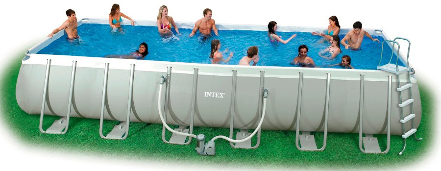 Каркасный бассейн Intex 54478 Rectangular Ultra Frame Pool 732 x 274 x 132