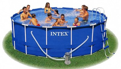 Каркасный бассейн Intex 56942 Metal Frame Pool 457 x 91