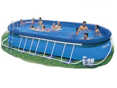 intex 57972 oval frame pool 853 x 366 x 122. Black Bedroom Furniture Sets. Home Design Ideas