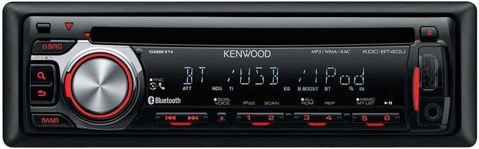 Автомагнитола Kenwood KDC-BT40U