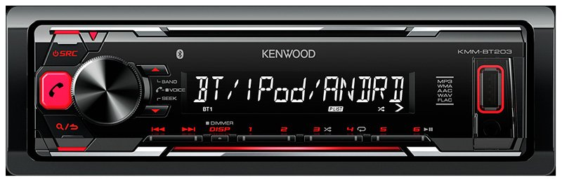 Автомагнитола Kenwood KMM-BT203