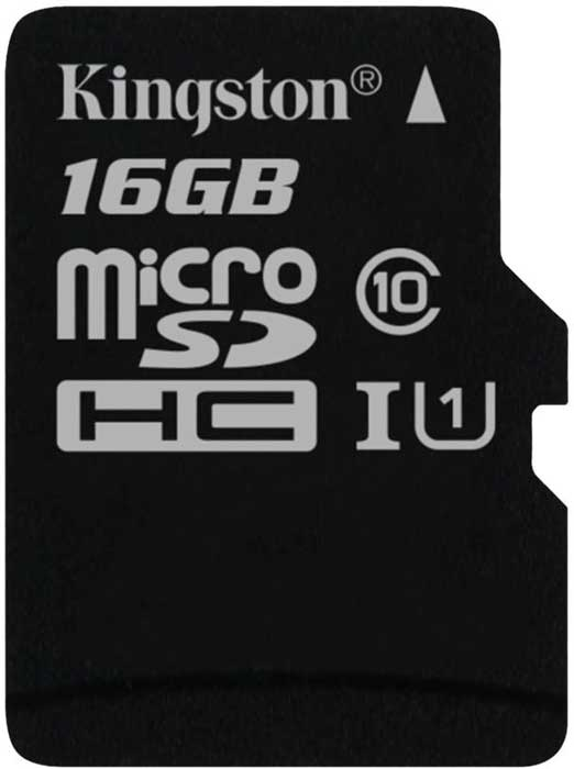 Карта памяти Kingston Canvas Select microSDHC 16Gb Class 10 UHS-I U1 (SDCS/16GBSP) фото