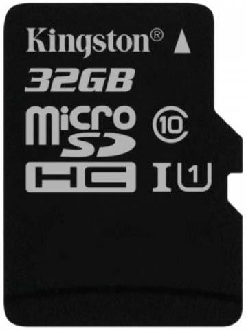 Карта памяти Kingston Canvas Select microSDHC 32Gb Class 10 UHS-I U1 (SDCS/32GBSP) фото