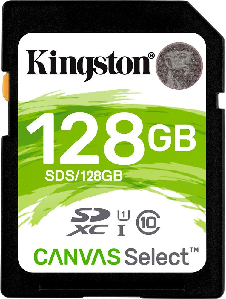 Карта памяти Kingston Canvas Select SDXC 128Gb Class 10 UHS-I U1 (SDS/128GB) фото
