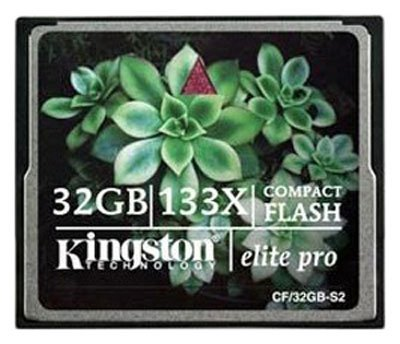 Карта памяти Kingston Compact Flash Elite Pro 133X 32GB CF/32GB-S2