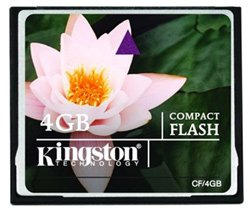 Карта памяти Kingston CompactFlash Card 4GB CF/4GB