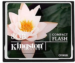 Карта памяти Kingston CompactFlash Card 8GB CF/8GB