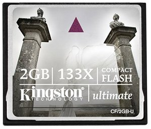 Карта памяти Kingston CompactFlash Card Ultimate 133X 2GB CF/2GB-U