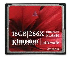 Карта памяти Kingston CompactFlash Card Ultimate 266X 16GB CF/16GB-U2