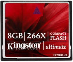Карта памяти Kingston CompactFlash Card Ultimate 266X 8GB CF/8GB-U2