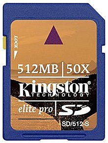 ����� ������ Kingston Elite Pro Secure Digital Card 512MB SD/512-S