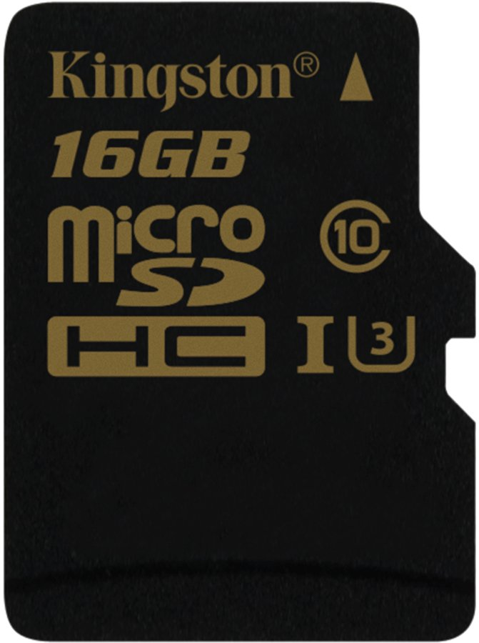 Карта памяти Kingston Gold microSDHC 16Gb Class 10 UHS-I U3 (SDCG/16GBSP)