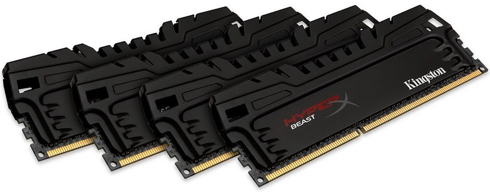Комплект памяти Kingston HyperX Beast KHX21C11T3K4/32X DDR3 PC3-17000 4x8Gb
