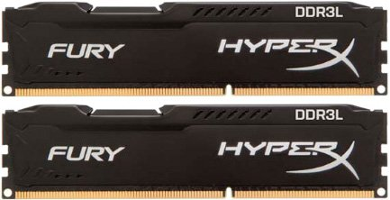 Комплект памяти Kingston HyperX Fury Black HX316LC10FBK2/8 DDR3 PC3-12800 2x4Gb