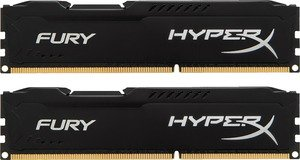 Комплект памяти Kingston HyperX Fury Black HX318C10FBK2/8 DDR3 PC-15000 2x4Gb