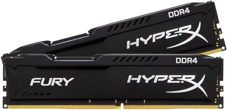 Комплект памяти Kingston HyperX Fury Black HX424C15FBK2/16 DDR4 PC-19200 2x8GB