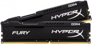 Комплект памяти Kingston HyperX Fury Black HX424C15FBK2/8 DDR4 PC-19200 2x4GB фото