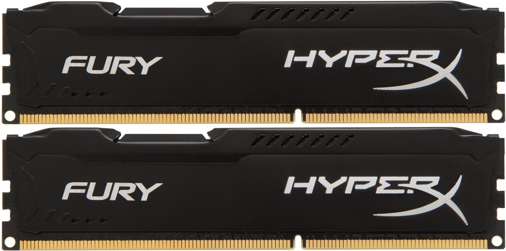 Комплект памяти Kingston HyperX Fury Black HX426C16FBK2/32 DDR4 PC4-21300 2x16GB фото