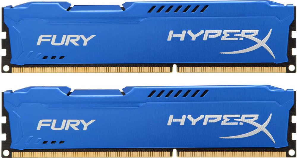 Комплект памяти Kingston HyperX Fury Blue HX313C9FK2/8 DDR3 PC-10600 2x4Gb