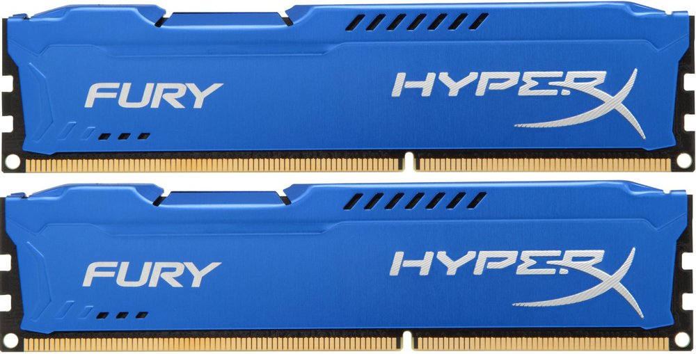 Комплект памяти Kingston HyperX Fury Blue HX316C10FK2/16 DDR3 PC-12800 2x8Gb фото