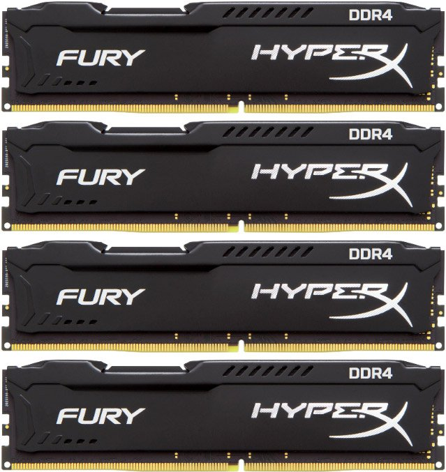 Комплект памяти Kingston HyperX Fury HX421C14FBK4/32 DDR4 PC4-17000 4*8Gb