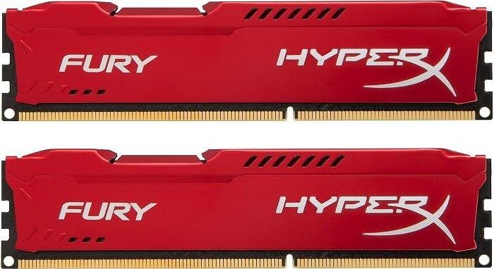 Комплект памяти Kingston HyperX Fury Red HX316C10FRK2/16 DDR3 PC-12800 2x8Gb фото