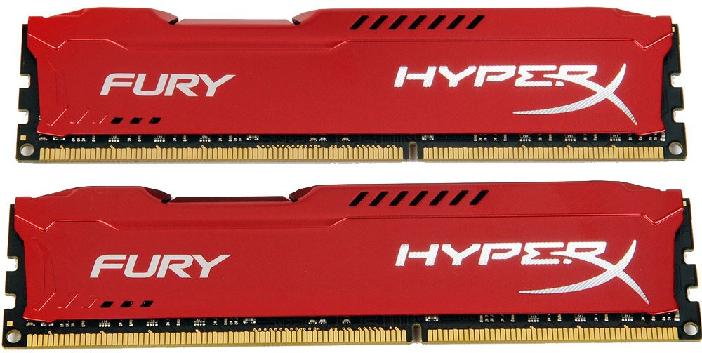 Комплект памяти Kingston HyperX Fury Red HX316C10FRK2/8 DDR3 PC-12800 2x4Gb