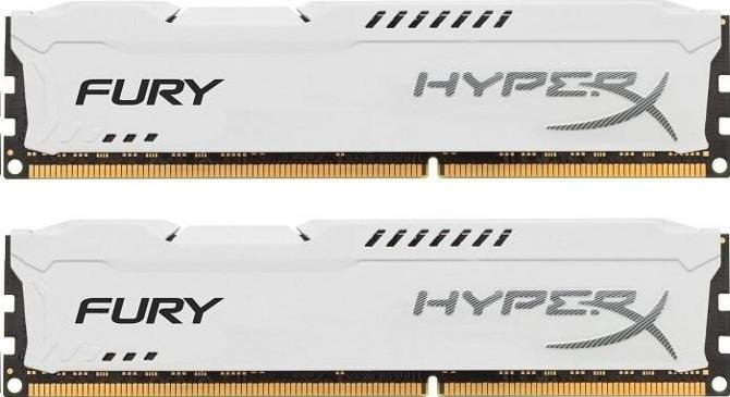 Комплект памяти Kingston HyperX Fury White HX313C9FWK2/8 DDR3 PC3-10600 2*4Gb