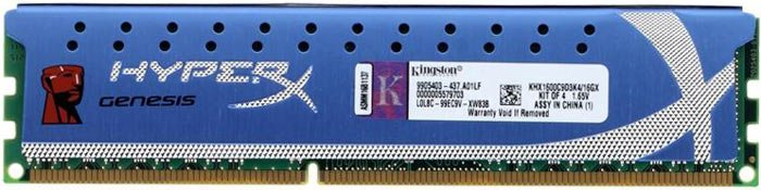 ������ ������ Kingston HyperX Genesis KHX1600C9D3K4/16GX DDR3 PC3-12800 4x4GB