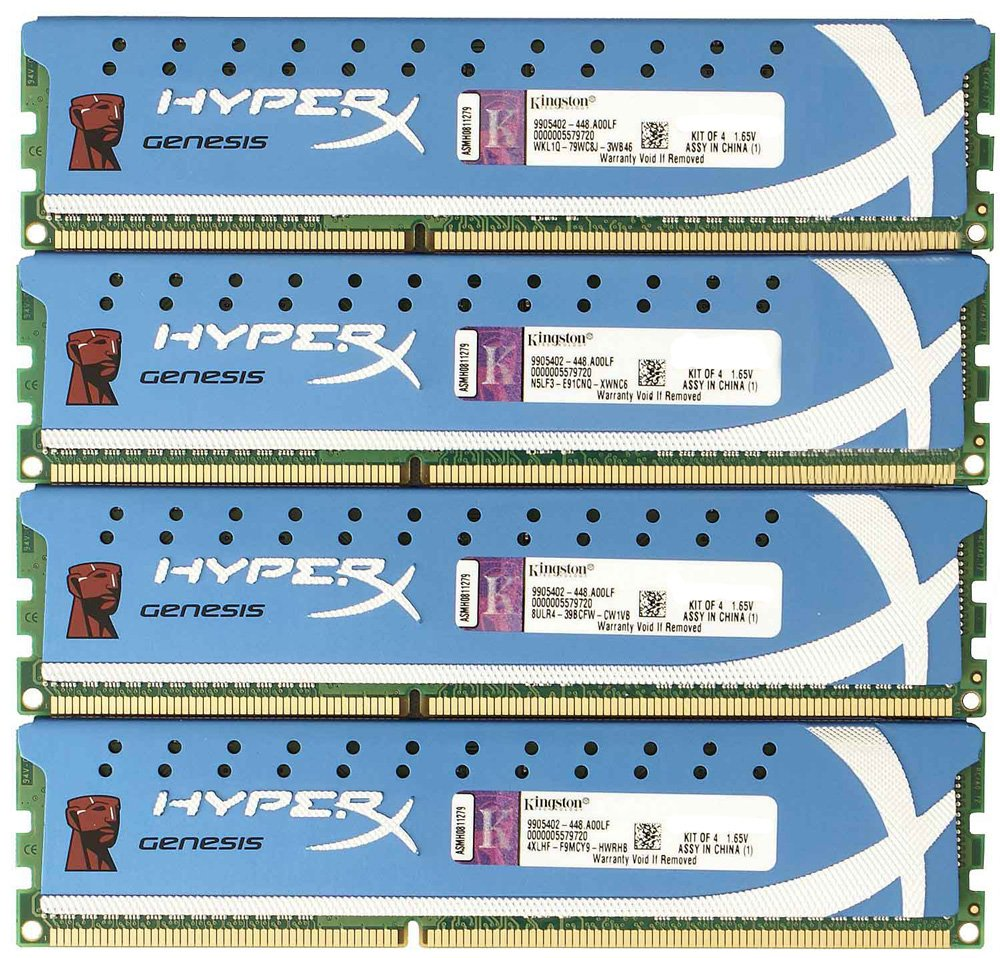Комплект памяти Kingston HyperX Genesis KHX2133C11D3K4/16GX DDR3 PC3-17000 4x4Gb