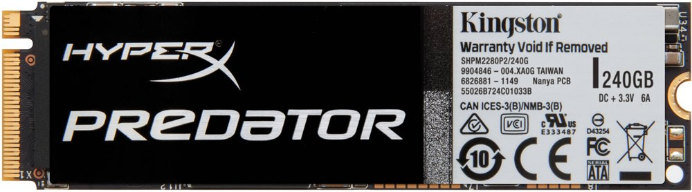 Жесткий диск SSD Kingston HyperX Predator M.2 (SHPM2280P2/240G) 240 Gb