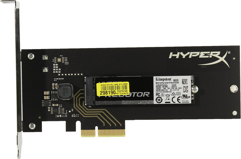 Жесткий диск SSD Kingston HyperX Predator M.2 (SHPM2280P2H/960G) 960 Gb