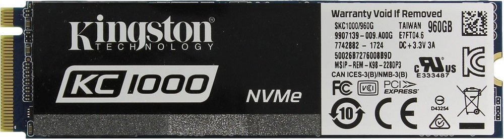 Жесткий диск SSD Kingston KC1000 (SKC1000/960G) 960Gb