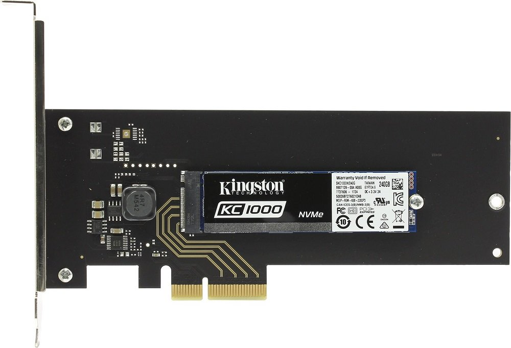 Жесткий диск SSD Kingston KC1000 (SKC1000H/240G) 240Gb фото