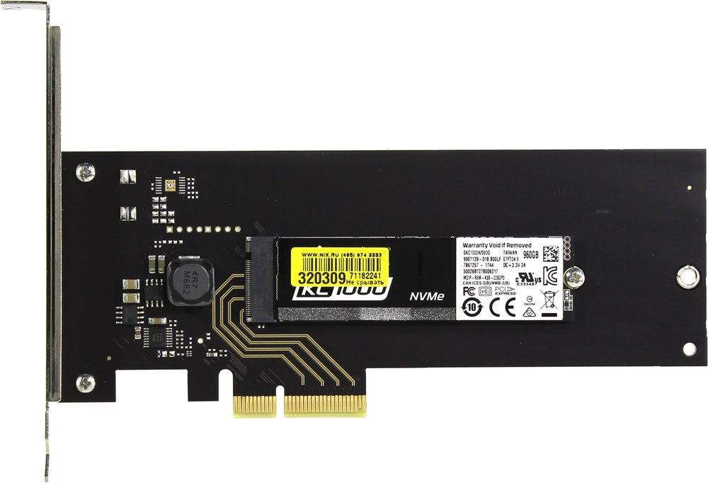 Жесткий диск SSD Kingston KC1000 (SKC1000H/960G) 960Gb фото