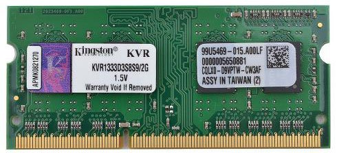 Модуль памяти Kingston KVR1333D3S8S9/2G DDR3 PC3-10600 2Gb
