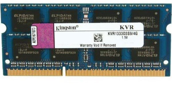 Модуль памяти Kingston KVR1333D3S9/4G DDR3 PC10600 4Gb