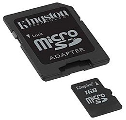 Карта памяти Kingston MicroSD Card 1GB SDC/1GB фото