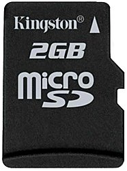 Карта памяти Kingston MicroSD Card 2GB (SD adapter not included) SDC/2GBSP