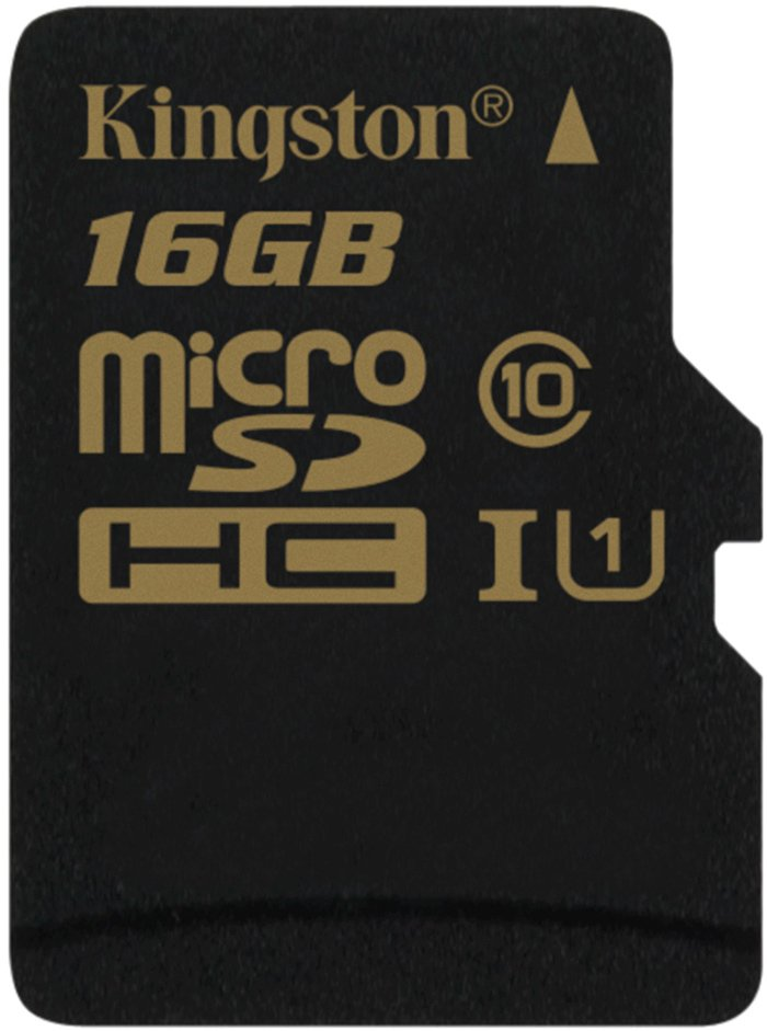 Карта памяти Kingston microSDHC 16Gb Class 10 UHS-I U1 (SDCA10/16GBSP) фото