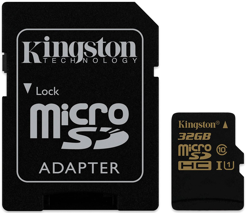 Карта памяти Kingston microSDHC 32Gb Class 10 UHS-I U1 + SD адаптер (SDCA10/32GB)
