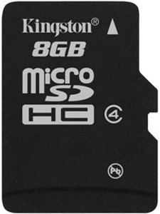 Карта памяти Kingston microSDHC Card Class 4 8GB SDC4/8GBSP