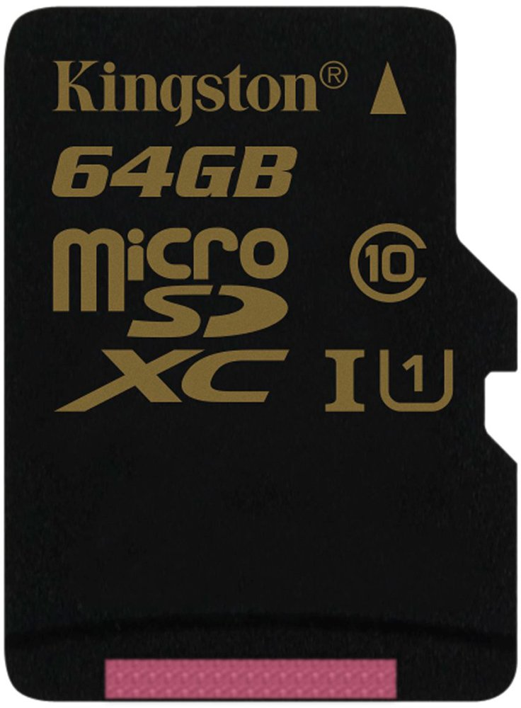 Карта памяти Kingston microSDXC 64Gb Class 10 UHS-I U1 (SDCA10/64GBSP) фото