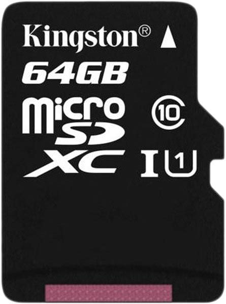 Карта памяти Kingston MicroSDXC 64GB UHS-I Class 10 (SDCX10/64GBSP)