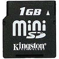 ����� ������ Kingston MiniSD Card 1GB SDM/1GB