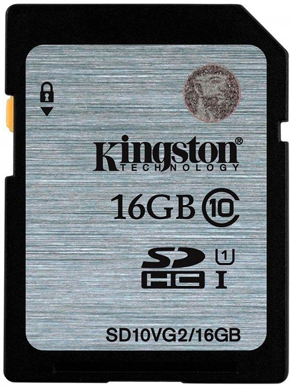 Карта памяти Kingston SDHC 16Gb Class 10 UHS-I U1 (SD10VG2/16GB) фото