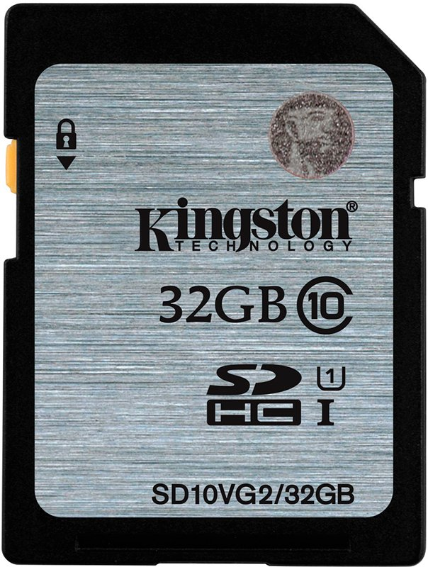 Карта памяти Kingston SDHC 32Gb Class 10 UHS-I U1 (SD10VG2/32GB) фото
